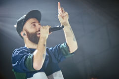 Yoann Lemoine performing at the club Cosmonavt. Stage name Woodkid Stock Photography