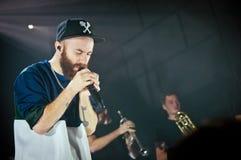 Yoann Lemoine performing at the club Cosmonavt. Stage name Woodkid Stock Photo