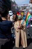 Yoda dans la fierté homosexuelle 2011 de Brighton Photos stock