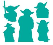 Free Yoda Star Wars Silhouettes EPS Vector Clipart Cutting Files Royalty Free Stock Photo - 144197965
