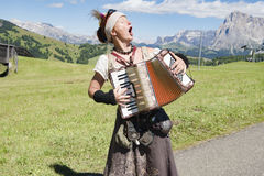 Yodeling in Alps Royalty Free Stock Photos