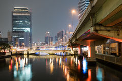 Yodo rzeka przy nocą zdjęcie royalty free