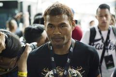 Yodsanan Sityodtong次最轻量级职业拳击手一冠军战斗机 库存照片