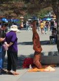 Yog стоит на его голове в Харбин, Китае стоковая фотография rf
