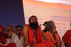 Yog guru baba Ramdev Stock Photos