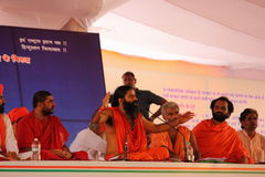 Yog guru baba Ramdev on stage Royalty Free Stock Images