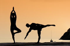 Yogaübung Stockfotos