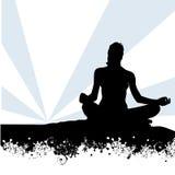 Yoga à la mer Photos libres de droits