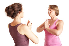 Yoga-Übung Lizenzfreies Stockbild