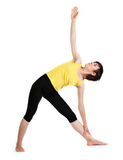 Yoga. Young girl does exercise of yoga Stock Images