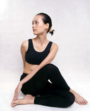 Yoga. A Chinese girl practicing yoga Royalty Free Stock Photo