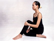 Yoga. A Chinese girl practicing yoga Stock Photo
