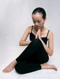 Yoga. A Chinese girl practicing yoga Royalty Free Stock Photos