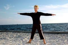 Yoga aîné Image libre de droits