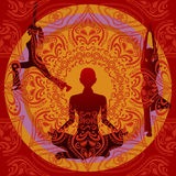Yoga royalty illustrazione gratis