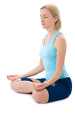 Yoga. Young woman doing yoga exercises Royalty Free Stock Photo