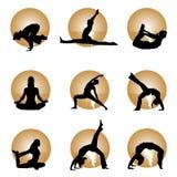 Yoga. Set of yoga  illustration vector Stock Photos