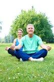 Yoga aîné Photos stock