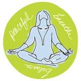 Yoga illustration de vecteur