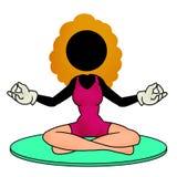Yoga illustrazione vettoriale