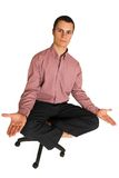 Yoga #188 di affari Immagine Stock