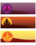 Yoga. Set of yoga  illustrations Royalty Free Stock Images