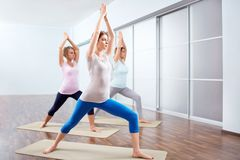 Yoga. Young attractive women do yoga Royalty Free Stock Images