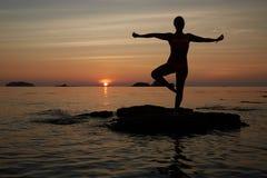 Yoga fotografering för bildbyråer