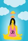 Yoga. Girl doing yoga and meditation Royalty Free Stock Photos