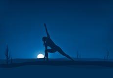 yoga ilustração stock