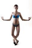 Yoga. A beauty female is doing yoga Stock Photography