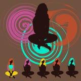 yoga royaltyfri illustrationer
