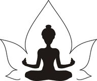 Yoga. Lotus Royalty Free Illustration