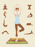 Yoga. The woman is engaged in the mornings in yoga Stock Photography