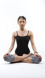 Yoga. Young yoga female doing yogatic exericise Royalty Free Stock Images