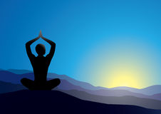 yoga Illustration Stock