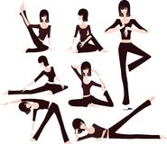 Yoga. Illustration of Fitness Abstract of Yoga Beauty Stock Image