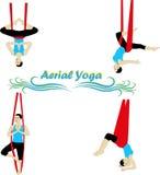 Yoga aérien Image libre de droits