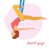 Yoga aérien Art d'isolement Images libres de droits