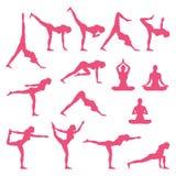 Yoga in aard stock illustratie