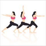 Yoga Actions Vector. And Illustration Royalty Free Stock Photo