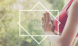 Yoga Activity Healthy Leisure Meditating Relax Concept Stock Photography
