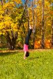 Yoga Adha mukha vrikshasana pose Royalty Free Stock Photos