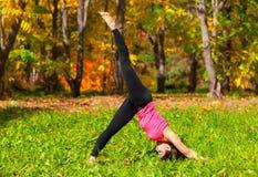 Yoga Adho mukha eka pada shvanasana pose Royalty Free Stock Images