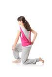 Yoga adolescente del entrenamiento de la mujer Imagenes de archivo