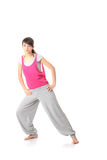 Yoga adolescente del entrenamiento de la mujer Foto de archivo libre de regalías