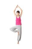 Yoga adolescente del entrenamiento de la mujer Imagen de archivo