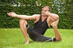 Yoga al aire libre Imagen de archivo