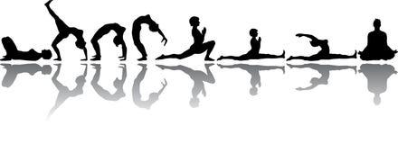 Yoga & geschiktheid vector illustratie