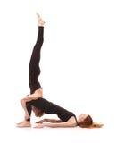 Yoga appareillé sur un fond blanc Image libre de droits